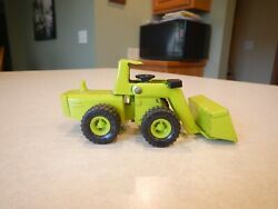 Vintage Buddy L Construction Vehicle Front End Loader Metal Toy Green Used