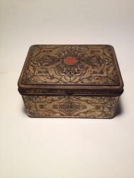 Antique Homemade First Aid Kit Ster-tabak Antique Tabbaco Tin