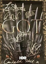 Sdcc 2019 Game Of Thrones Cast Autographed Poster Last Appearance
