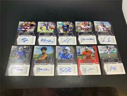 Lot Of 10 2019 Sage Hit Football Rookie Auto Red Base Oliver Madison Henry Etc