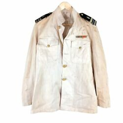 Faded 1940s Us Navy Officer's Choker Jacket Medical Corp