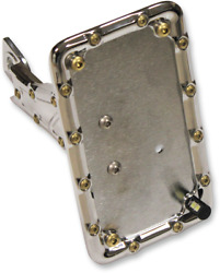 Bomber Series Side-mount License Plate Carl Brouhard Designs Chrome Lp-bsis-c