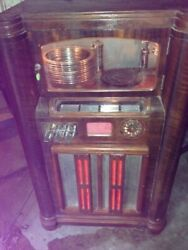 Wurlitzer 412 Jukebox With Light Up Grill And Extra Mechanisms Parts