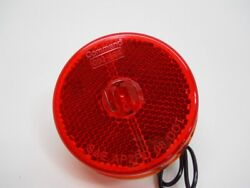 50 Red 2.5 Inch Round Led Truck Trailer Side Marker Clearance Lights / Stud
