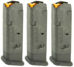 3 - Magpul Gl9 For Glock 17 19x 34 Magazine 10 Round 9mm Mag801 Mag 10rd