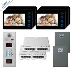 New Multi Tenant Video Intercom System Door Entry Kit With 8 5 Color Monitors