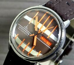 1970's Vintage Benrus Spaceman S/s Automatic Mens Watch Very Rare