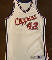 Rare Vintage 94-95 Authentic Champion Nba Los Angeles Clippers Eric Riley Jersey