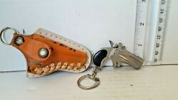 Victory Articulated Vintage Derringer Cap-gun Charm With Holster Collectible