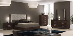 ESF Georgia Deluxe King Bedroom Set, Made in Italy by Status total of 5 Pieces