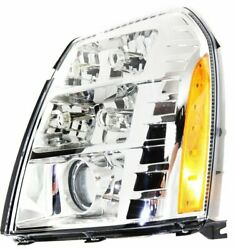 HID Headlight For 2007-2009 Cadillac Escalade Escalade EXT Driver Side w/ bulb