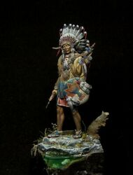Sioux Warrior American Indian Painted Toy Soldier Miniature Pre-sale   Museum