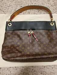 Louis Vuitton Tuileries Hobo. Mono With Black Trim. Great Pre Loved Condition.