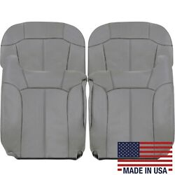 2000 2001 2002 Chevy Tahoe Suburban Leather Seat Covers Light Gray 122 Pewter