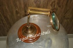 Brand New Magnifying Table Desk Top Glass Reading Craft Wood Base