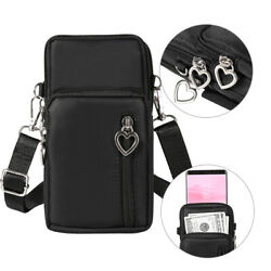 Small Travel Women Cell Phone Purse Pouch Wristlet Crossbody bag for iPhone XR $6.99