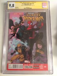 Cgc Ss 9.8 Avenging Spider-man 16 Signed Stan Lee And Paolo Rivera X-men Superior