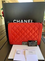 CHANEL Quilted Calfskin Large Boy Bag - 100% Guarantee Authentic