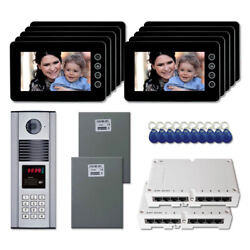 New Building Home Security Video Intercom System Kit With 10 7 Color Monitors