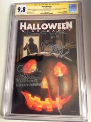 Cgc Ss 9.8 Halloween 1 Variant Signed By Cast Of Halloween 4 Michael Myers