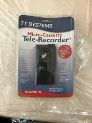 Tt Systems Vtr-100 Micro-cassette Tele-recorder Voice Activated W/free Tr-50 Ada