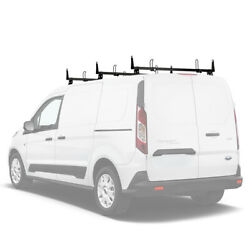 3 Bar 50'' Cargo Van Roof Rack wLoad Stops Steel Fits:Transit Connect 2014-On