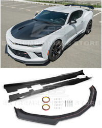 Refresh Zl1 Style Front Bumper Lip Splitter And Side Skirts For 16-up Camaro Ss