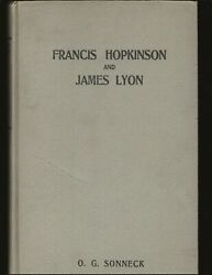 Francis Hopkinson The First American Poet-composer...... Only Copy Signed