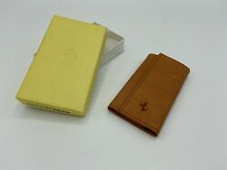 Ferrari Schedoni Leather Key Wallet | Pouch | Keychain | Nos | Made In Italy