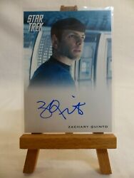 Star Trek The Movies 2009 Film Autograph Trading Card Zachary Quinto As Spock