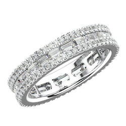 1.75ct Round And Baguette Cut Diamonds Full Eternity Ring18k White And Yellow Gold