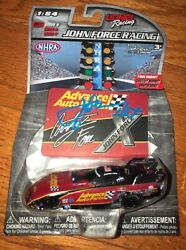 Nhra 2017 Signed Auto John Force Diecast Red Car 164 Lionel Racing Photo Proof