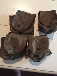 Lot Of 4 Usgi Military Surplus Molle Ii Hand Grenade Pouches -coyote Brown