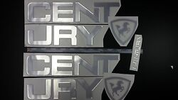 Century Boats Emblem 33 + Free Fast Delivery Dhl Express - Raised Decal Sticker