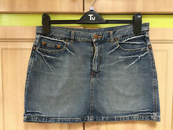 H&M 💖 DIVIDED very pretty size 10 jeans blue mini skirt excellent condition.