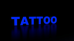 6pc Tattoo Led Black Side Panels, Storefront Sign, Complete And Ready To Install