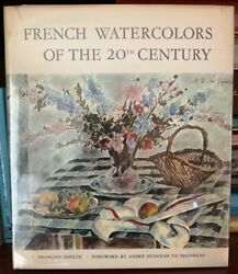French Watercolors Of The 20th Century Francoi Daulte 1968 Hardcover