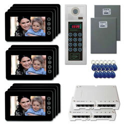 Home Door Entry Security Video Intercom System Kit With 11 7 Color Monitors