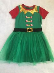 Womens Christmas Holiday Elf Ugly Sweater Dress by 33 degrees size Small