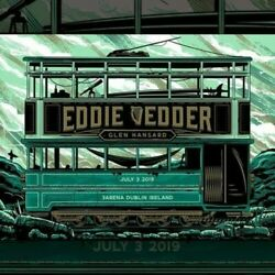 EDDIE VEDDER POSTER DUBLIN IRELAND July 3 2019 Travis Price PEARL JAM *IN HAND*