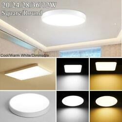 LED Ceiling Down Light Ultra Thin Flush Mount Dimmable Home Kitchen Lamp Fixture