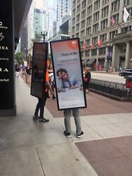 Trade Show And Advertising Display Banner. Mobile Billboard