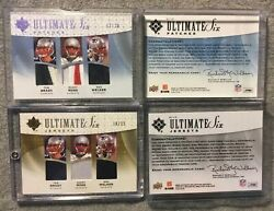 2009 Ud Ultimate Six Jerseys Tom Brady Platinum 12/20 Gold 10/25 Coll. And Pro 's