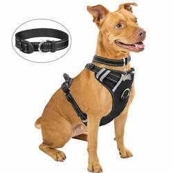 Dog Harness No-Pull Pet Harness with Dog Collar & FrontBack Leash Clips Durable