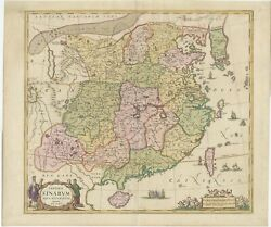 Antique Map Of China And Korea By Janssonius C.1650