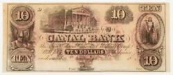 1800s 10 Ten Dollars - Canal And Banking Co. - New Orleans, La Bank Note Bill Cr