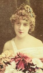 1880and039s Sweet Caporal Actress Mlle Bertaut Cigarette Trade Card F89