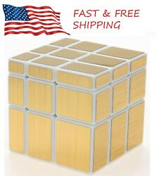 Shengshou Mirror Cube 3x3 Speed Cube Gold Mirror Blocks Puzzle Toys USA SELLER