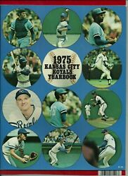 Original 1975 Royals Yearbook,first Year Brett Cover Unopened From Cooperstown