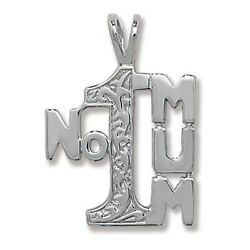 Sterling Silver Number 1 Mum Pendant